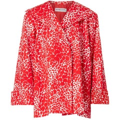 Yves Saint Laurent, red & white patterned jacket, circa 1975