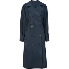 Chanel Grey Vintage Trench Coat, 1990s