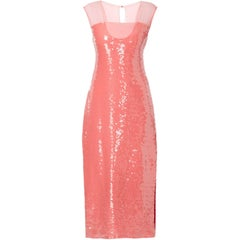 Bill Blass Pink sequin gown, circa 1979