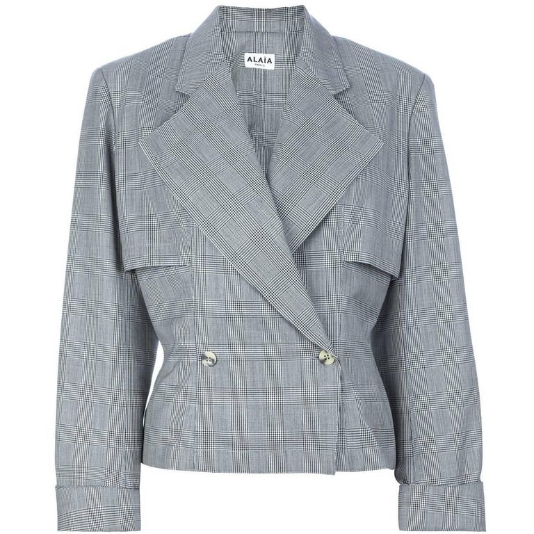 Alaïa Houndstooth Wool Vintage Suit, 1980s