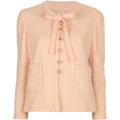 Chanel Pink Wool Vintage Jacket, 1980s