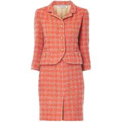 Marie Jansen pink and orange skirt suit, circa 1964