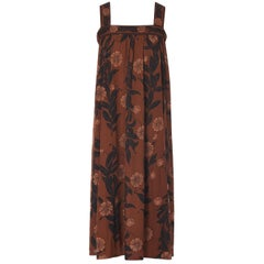 Emilio Pucci brown silk dress, circa 1972