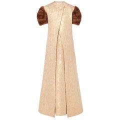Pauline Trigere, gold dress & coat, circa 1965