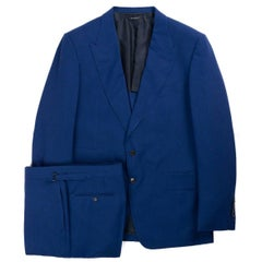 Tom Ford Blue Shleton Fresco Wool Mouline 2Pc Suit