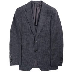 Tom Ford Men's Basic Base V Nuova Grey Plaid Blazer