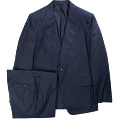 Tom Ford Navy Shelton Base Cotton 2-Piece Suit