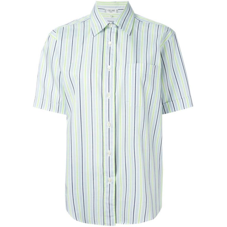 Céline Striped Cotton Vintage Shirt, 2000s