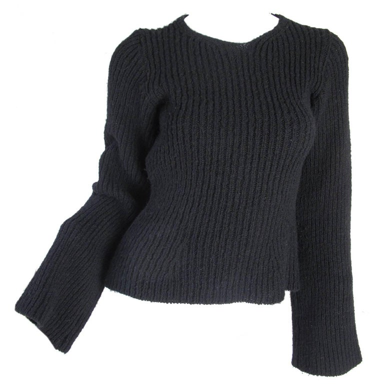 Ann Demeulemeester Ribbed Wool Sweater, 1990s