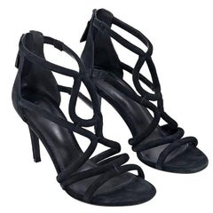 Black Sandro Strappy Suede Sandals