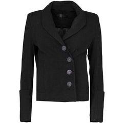 Proenza Schouler Black Zipper Jacket Sz 6