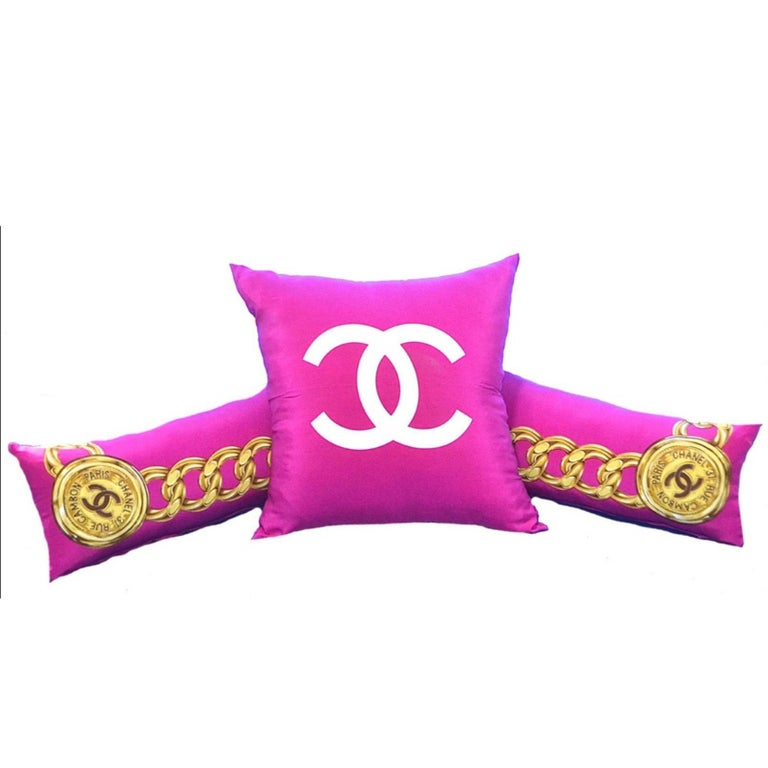 Chanel Vintage 3 Pillow Set iwj4480-1 For Sale at 1stdibs
