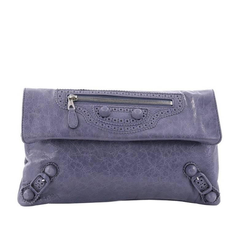 Balenciaga Envelope Clutch Covered Giant Brogues Leather at 1stdibs 125d1ff4c