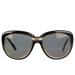 CARTIER Paris CONQUETE NOIR Black Gold Sunglasses 53-18 135 NOS