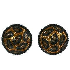 Pave Leopard Earrings