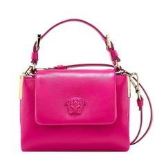 Versace Palazzo Small Pink Leather Top Handle Shoulder Bag