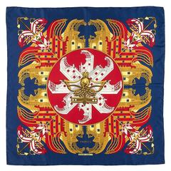 Vintage Hermes Scarf, 'Proues' by Philippe Ledoux