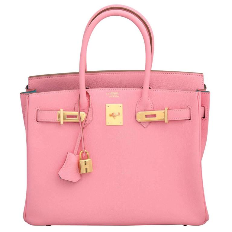 """Hermes Rose Confetti Pink """"Special Order"""" Chevre Birkin with Horseshoe Stamp 1"""