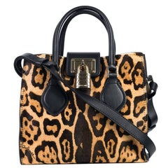 Roberto Cavalli Small Black Cheetah Florence Cross Shoulder Bag