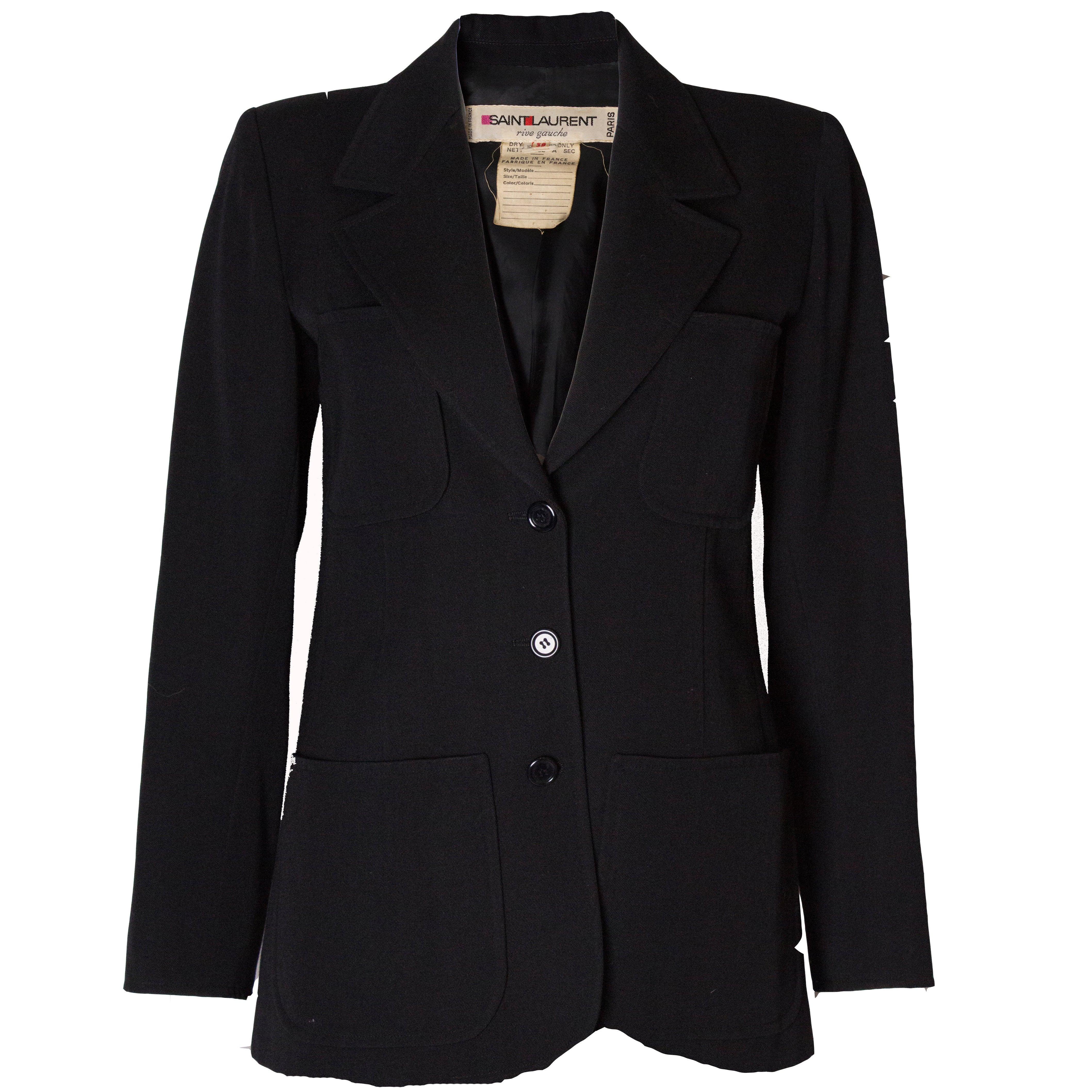 f38e7e8bb3b Yves Saint Laurent Vintage Rive Gauche Jacket at 1stdibs