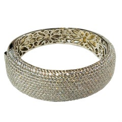 Multi Row Pave Wide Hinged Cuff