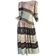 Mary McFadden Burnout Velvet Dress