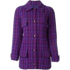 Chanel Purple Wool Vintage Jacket, 1990s