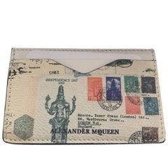 Alexander McQueen Cream Cardholder Wallet