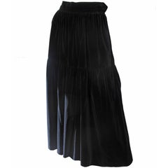 Yves Saint Laurent Rive Gauche Velvet Skirt, 1980s  - sale