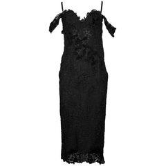Ermanno Scervino Black Lace Cocktail Dress sz IT44