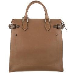 Louis Vuitton Limited Edition Cognac Leather Men's Travel Carryall Tote Bag