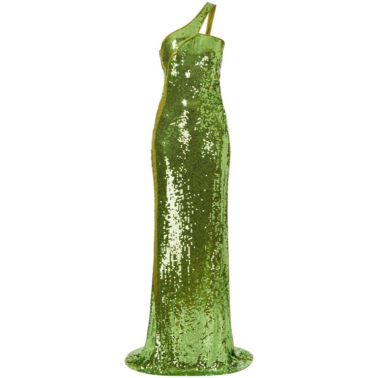 Tom Ford for Gucci green sequin gown, Autumn/Winter 2004