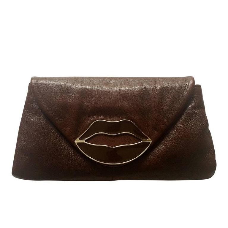 Yves Saint Laurent Dali Lips Clutch Ysl 2003 Tom Ford Era Collectors For