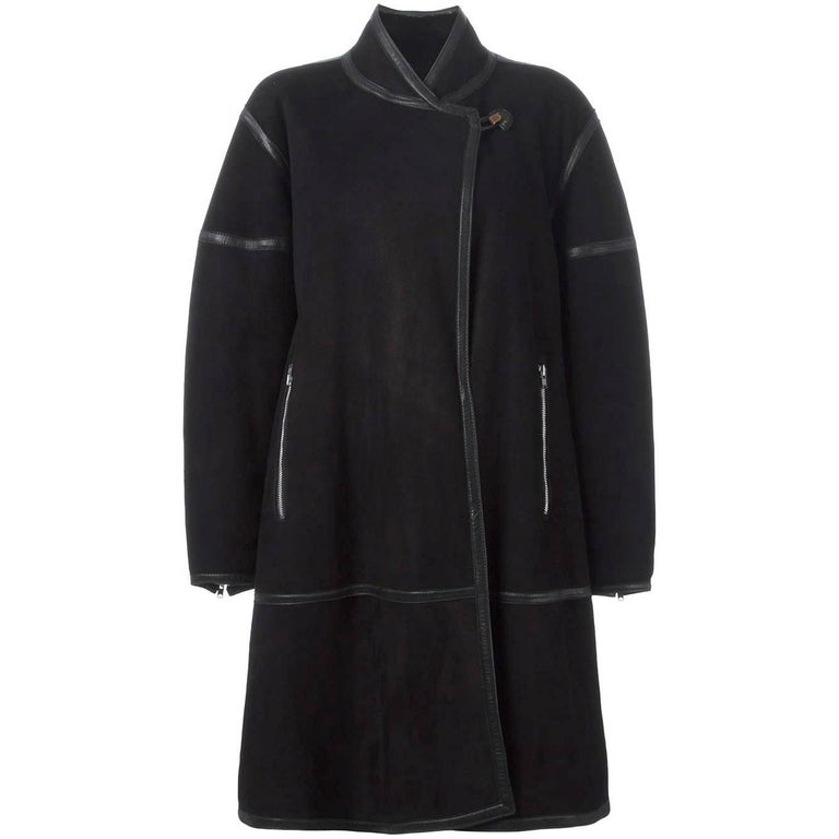 Alaïa Black Sheep Skin Vintage Coat, 1980