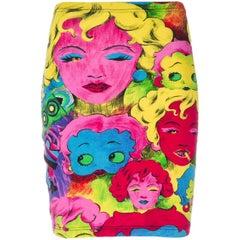 1991 GIANNI VERSACE Pop Art Marilyn Betty Boop skirt