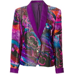 1990s GIANNI VERSACE rose print jacket