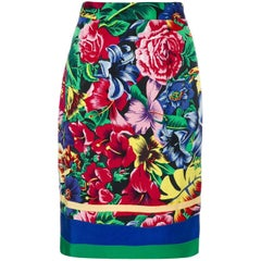 1990s VERSUS GIANNI VERSACE floral pencil skirt