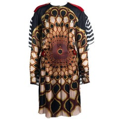 Givenchy Women's Multicolor Silk Abstract Print Long Sleeve Dress