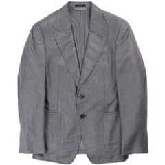 Tom Ford Mens Grey Silk Blend Cashmere Sport Jacket