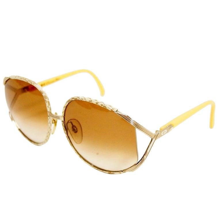 Christian Dior Model 2250 Snake Print Sunglasses, 1970s