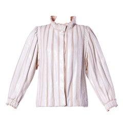 Amen Wardy Vintage 1980s 80s White Reptile Skin Wool + Silk Jacket