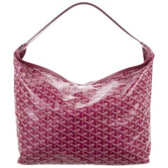 Goyard Red Monogram Large Bucket Carryall Travel Top Handle Shoulder Tote Bag