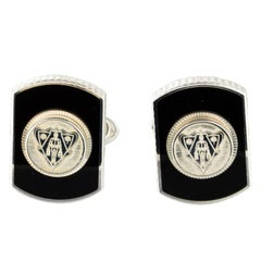 Gucci New Sterling Silver Black Hysteria Evening Suit Accessory Cufflinks in Box