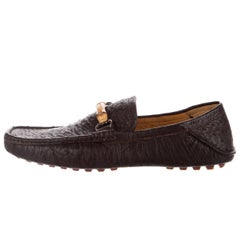 Gucci New Men's Chocolate Bamboo Moccasin Dress Casual Loafers Shoes
