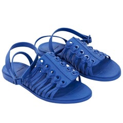Blue Givenchy Strappy Leather Sandals