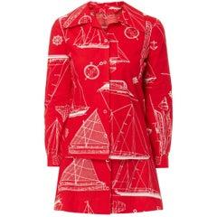 Red & white printed ensemble, circa 1975