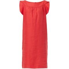 Pierre Cardin, haute couture red linen dress, circa 1969