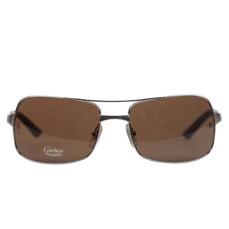 86eeb402d313f CARTIER Paris Sunglasses Aviator NEIL T8200716 Polarized 59-18 125 NOS For  Sale