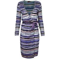 Missoni Purple Wrap Dress Sz IT46