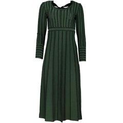 Fendi Green & Black Dress with Bow Sz IT42 NWT